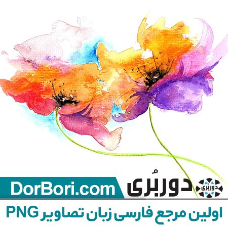 نقاشی با آبرنگ گل