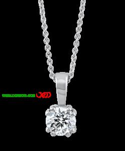 گردنبند نقره با نگین الماس